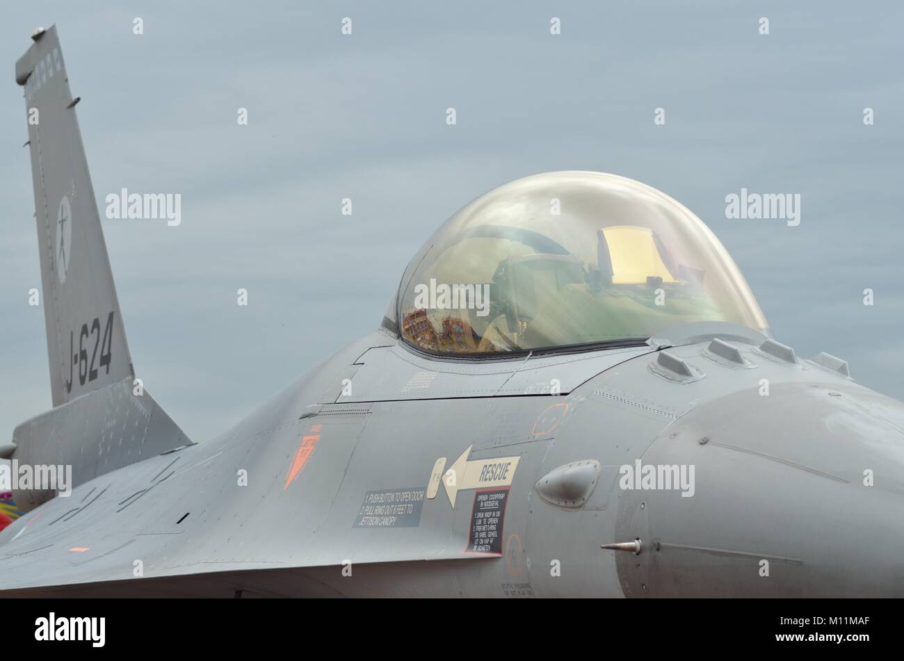 General Dynamics F-16AM, Royal Netherlands Air Force Stock Photo