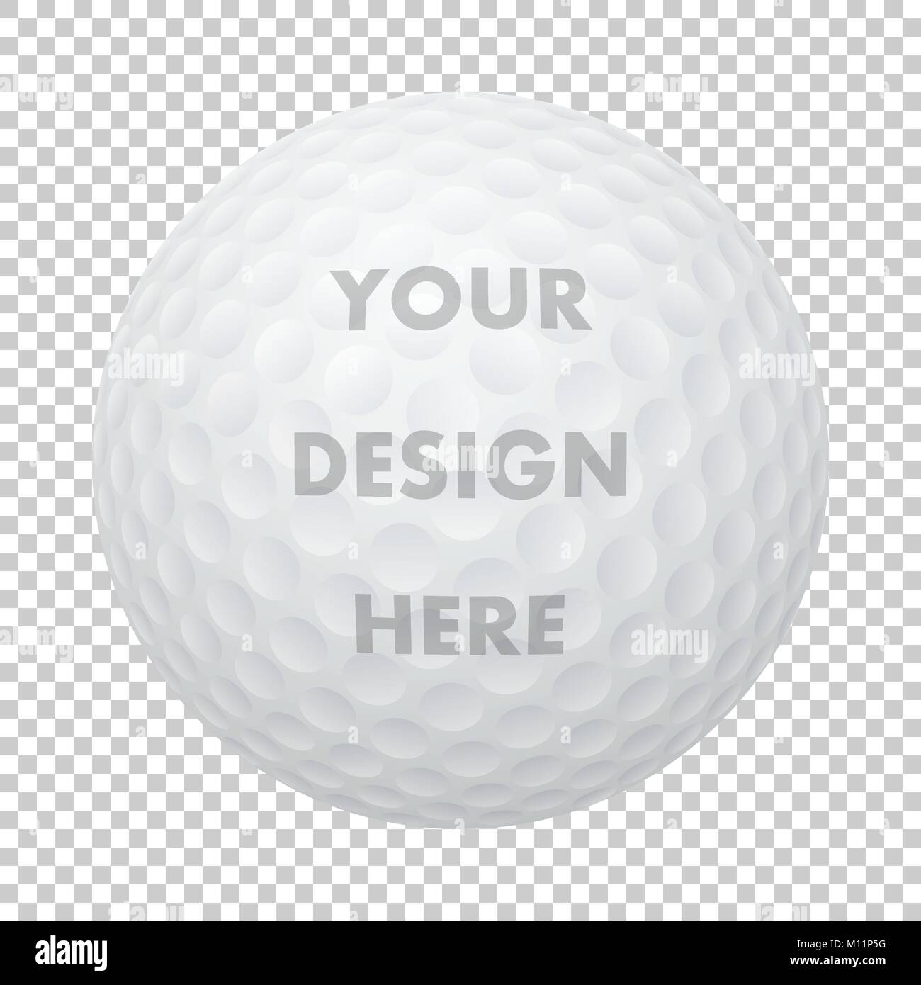 Vector Realistic Golf Ball Icon Closeup Isolated On Transparency Stock Vector Image Art Alamy
