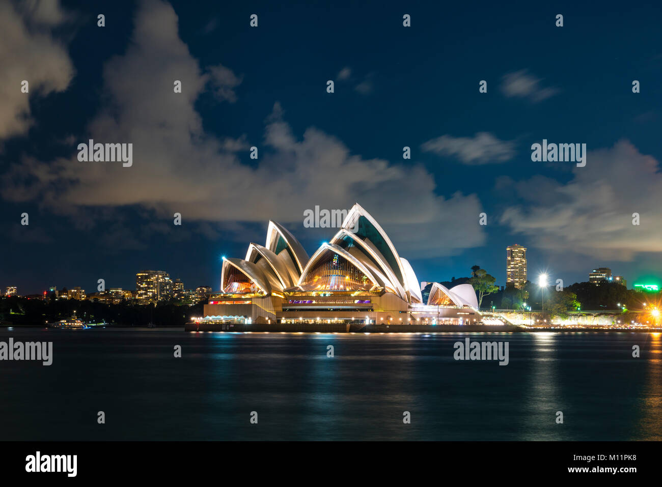 Sydney Opera House at night - Stock Image