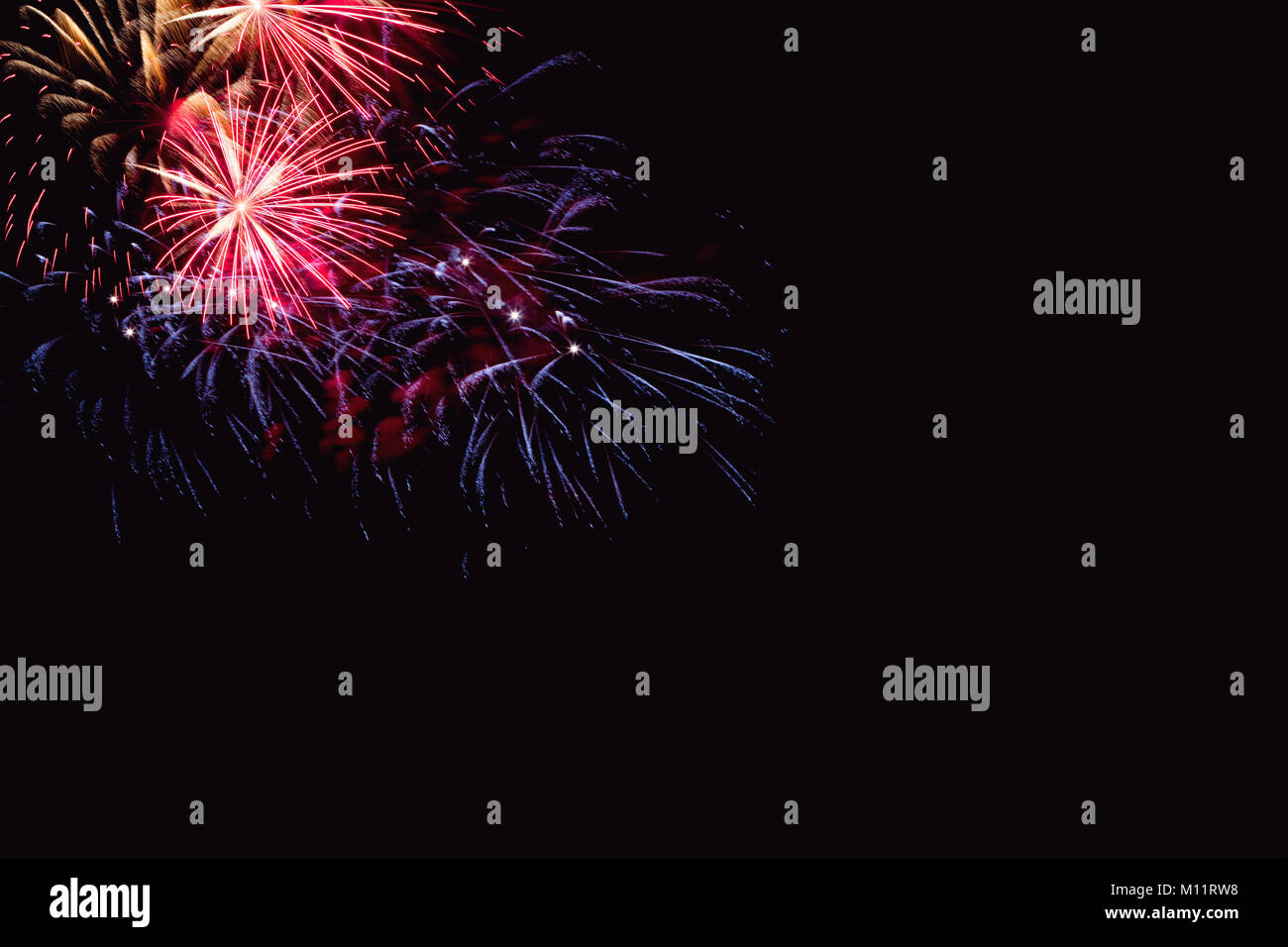 Rainbow Fireworks Celebration Colorful Abstract Image With: Colour Smoke White Background Stock Photos & Colour Smoke