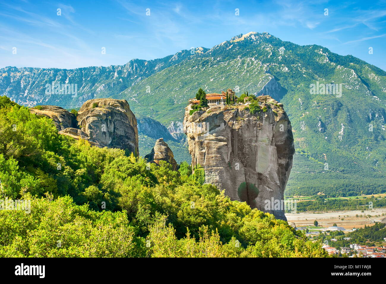 Holy Trinity Monastery at Meteora, Greece - Stock Image
