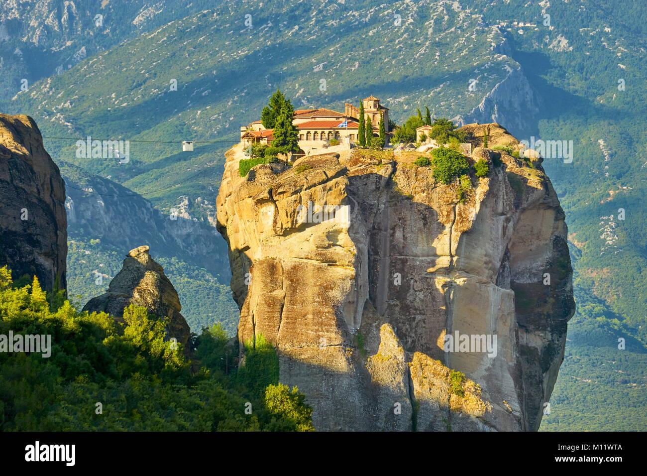 Holy Trinity Monastery at Meteora, Greece - Stock Image