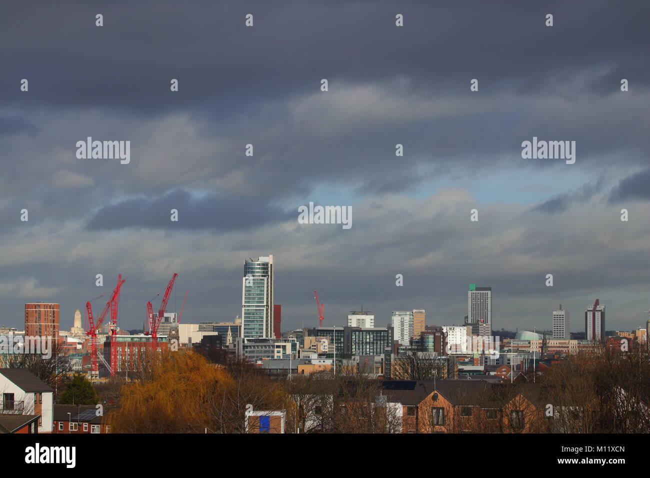 Leeds Skyline - Stock Image