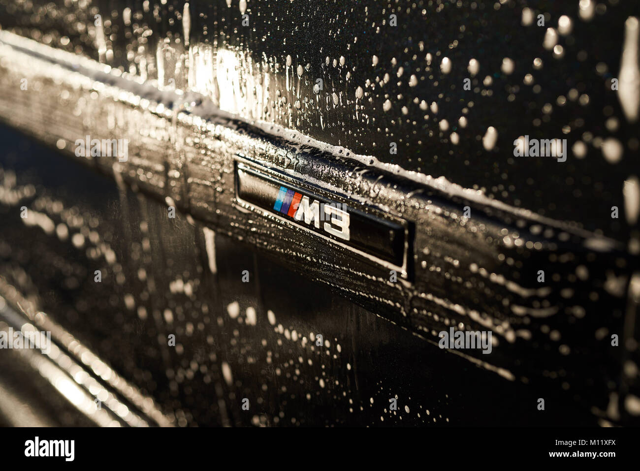 Suds on M3 - Stock Image