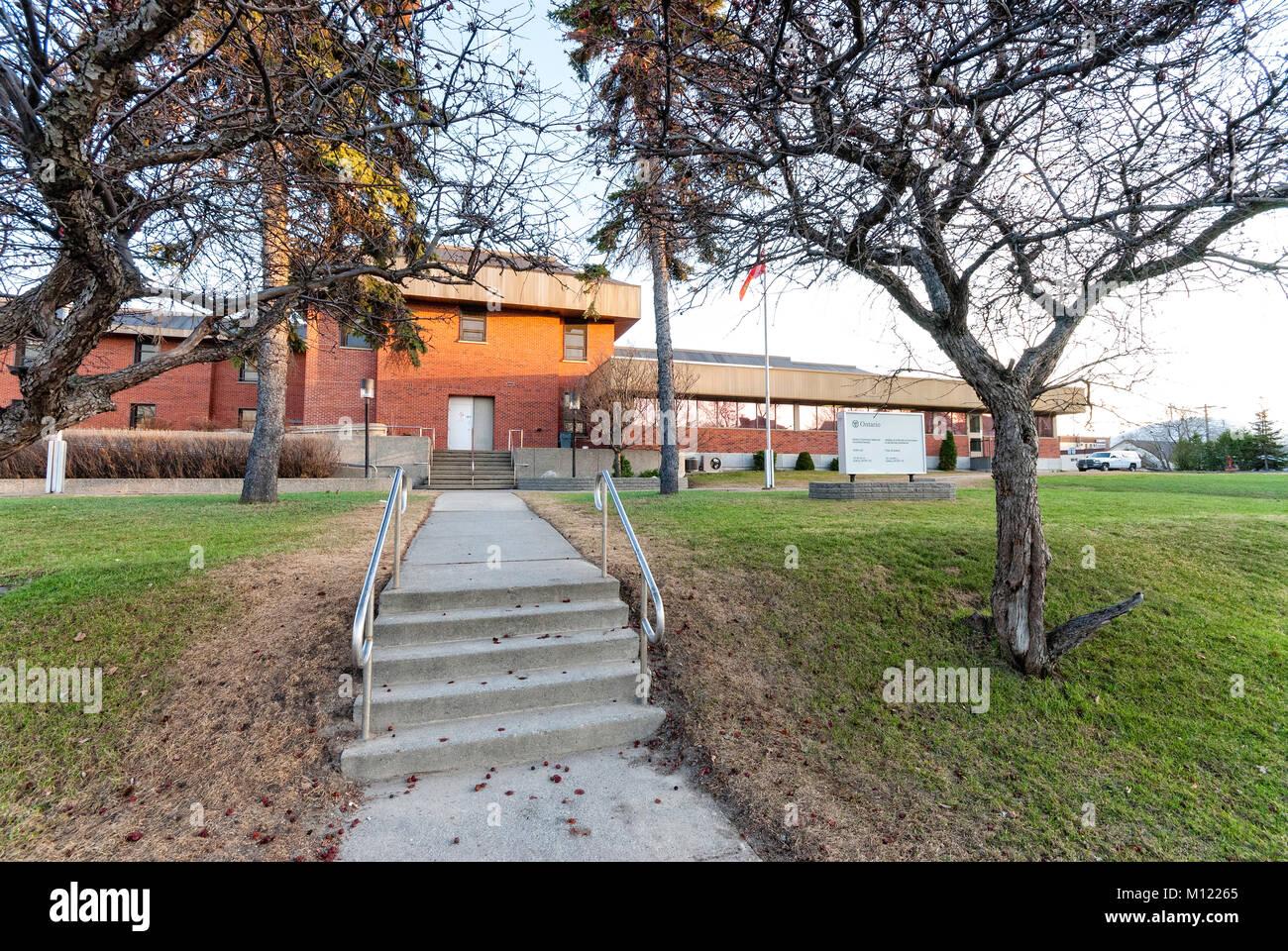 The Sudbury, Ontario jail Stock Photo