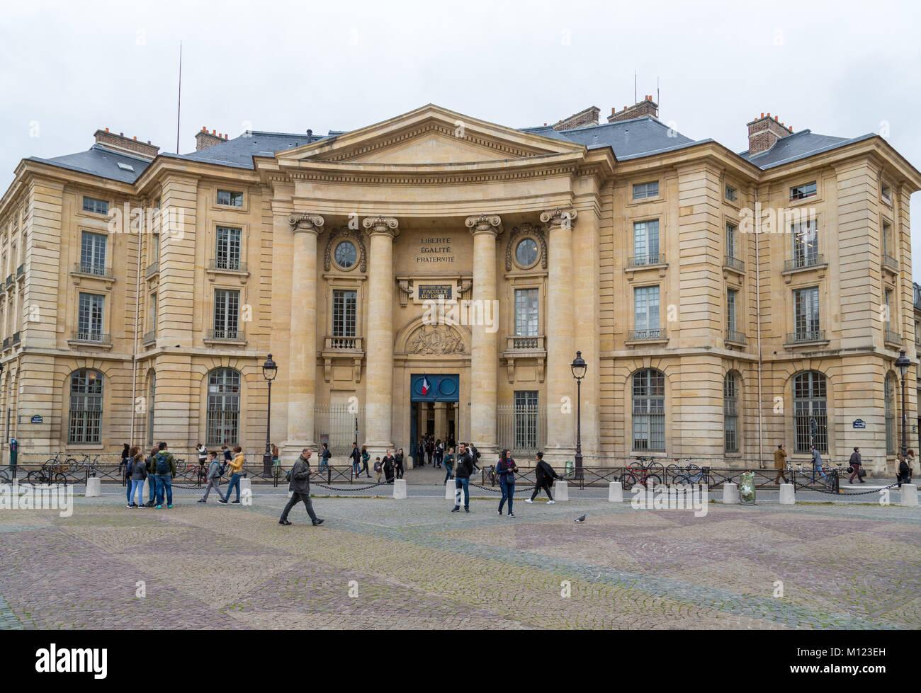 Sorbonne University Paris,Université Paris 1 Panthéon-Sorbonne,Main Building,Quartier Latin,Paris,France - Stock Image