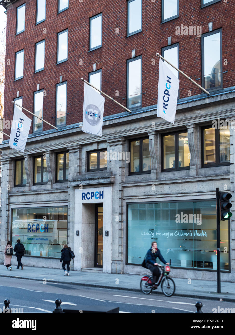 RCPCH - the Royal College of Paediatrics and Child Health on Theobalds Road in Central London, founded in 1996 - Stock Image