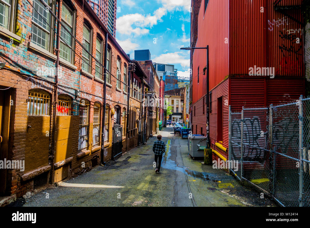 Exploring the city - Stock Image