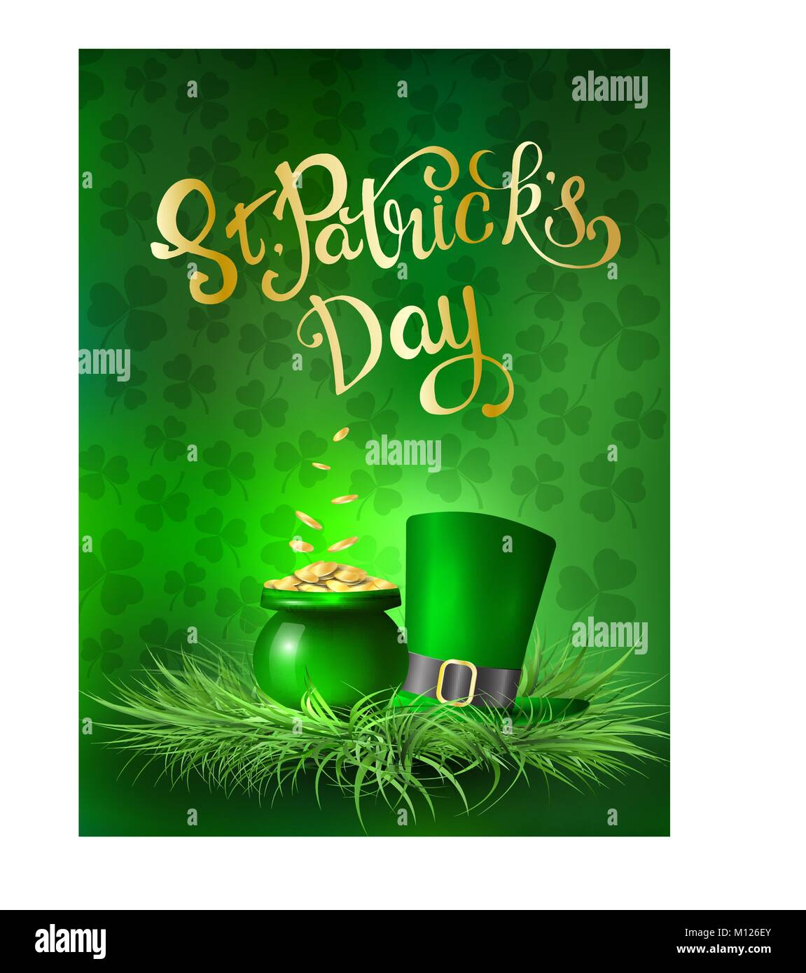 St Patricks Day Greeting Card With A St Patricks Day Vector