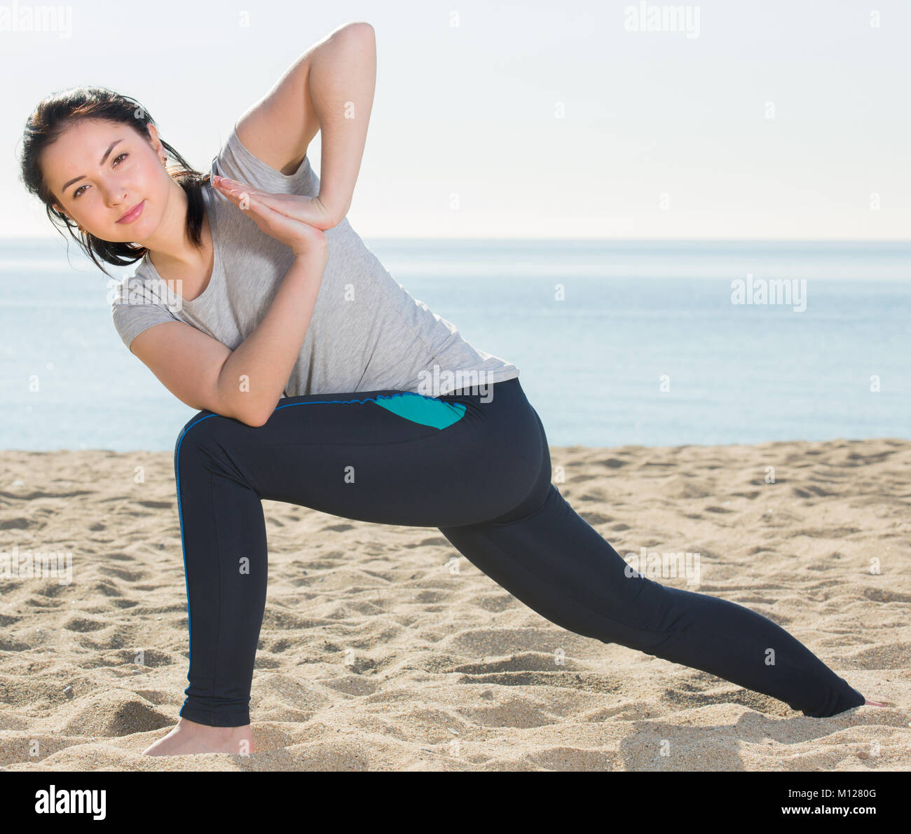 Yoga Poses High Resolution Stock Photography And Images Alamy