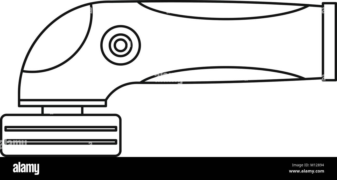 Grinder machine icon outline - Stock Image