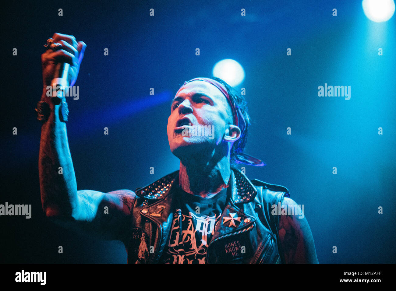 The American rapper and lyricist Michael Wayne Atha is better known by his stage name Yelawolf and here pictured Stock Photo