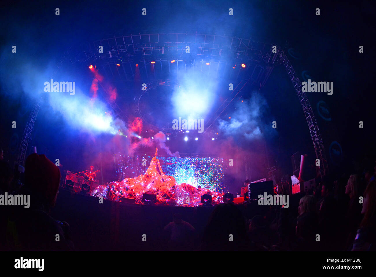 The Flaming Lips live at the True Music Festival 2013 in Scottsdale, Arizona USA - Stock Image