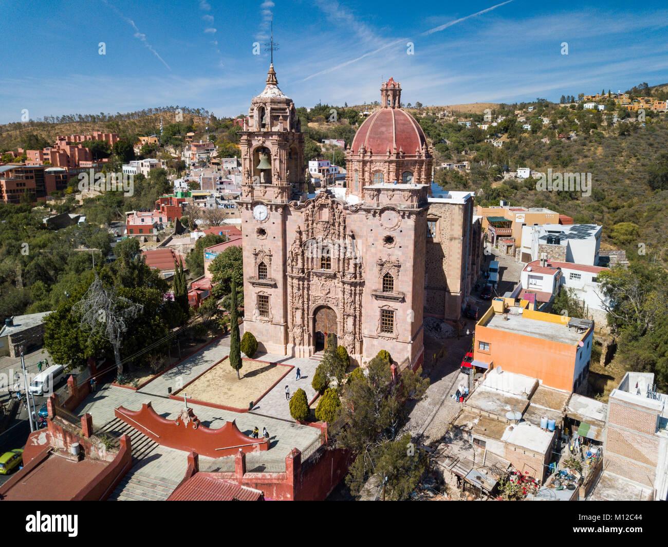 Iglesia de la Valenciana, also known as Templo de San Cayetano, Guanajuato, Mexico - Stock Image