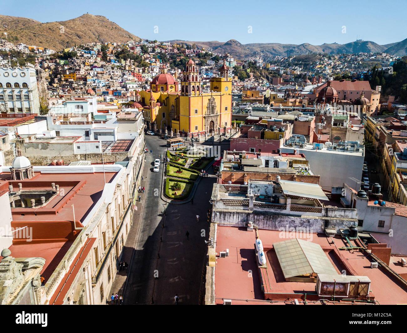 Basilica Colegiata de Nuestra Senora de Guanajuato, or Basilica of Our Lady of Guanajuato, Mexico - Stock Image