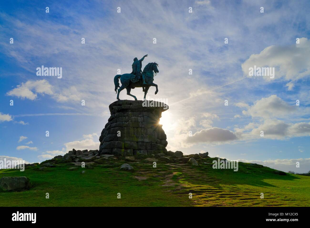 The equestrian statue of King George the Third in Windsor  Royal Park Berkshire England UK - Stock Image