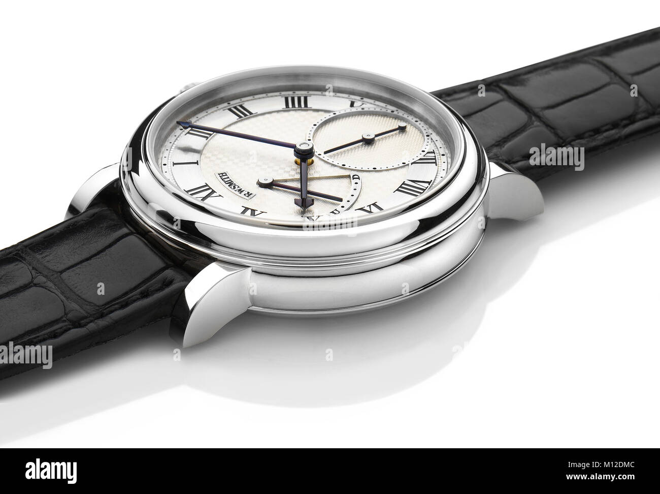 Roger Smith watch in platinum - Stock Image