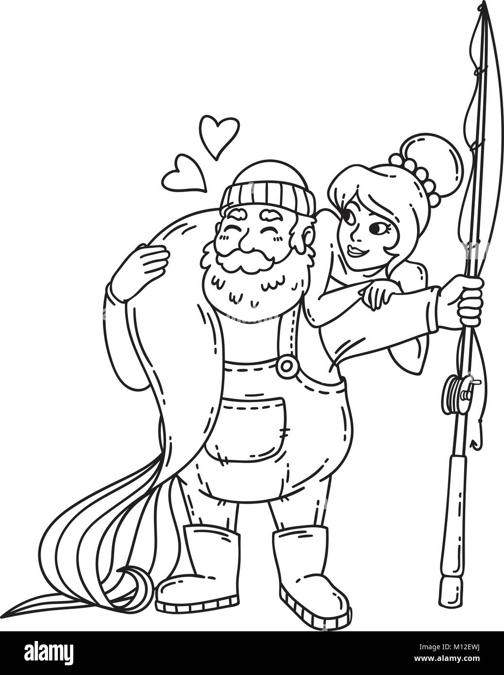 Fisherman #29 (Jobs) – Printable coloring pages | 1390x1038
