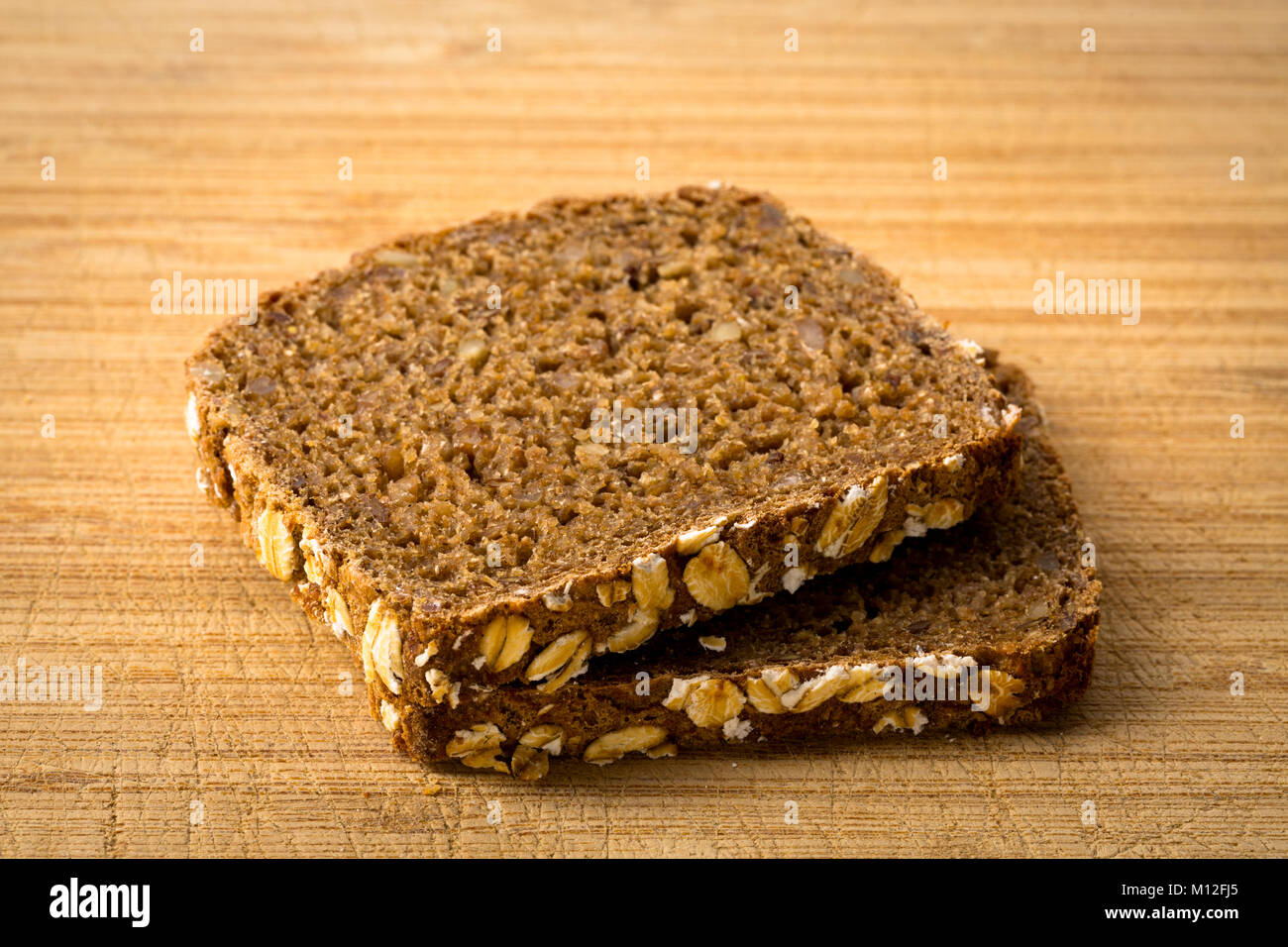 Two Slices Of Whole Wheat Bread Stock Photos Two Slices Of