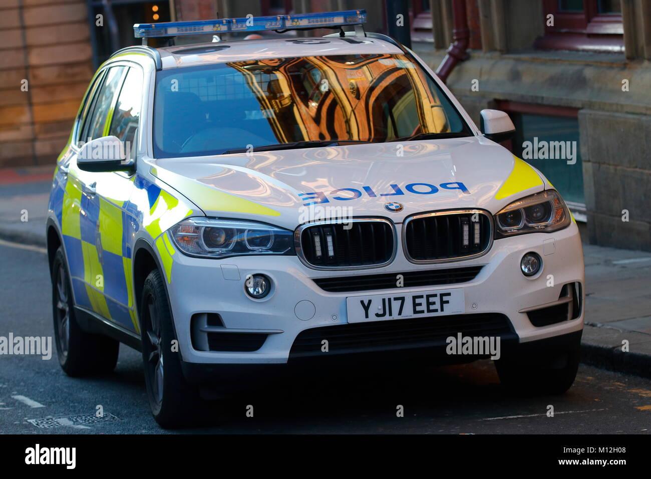 BMW X5 Police Car - Stock Image