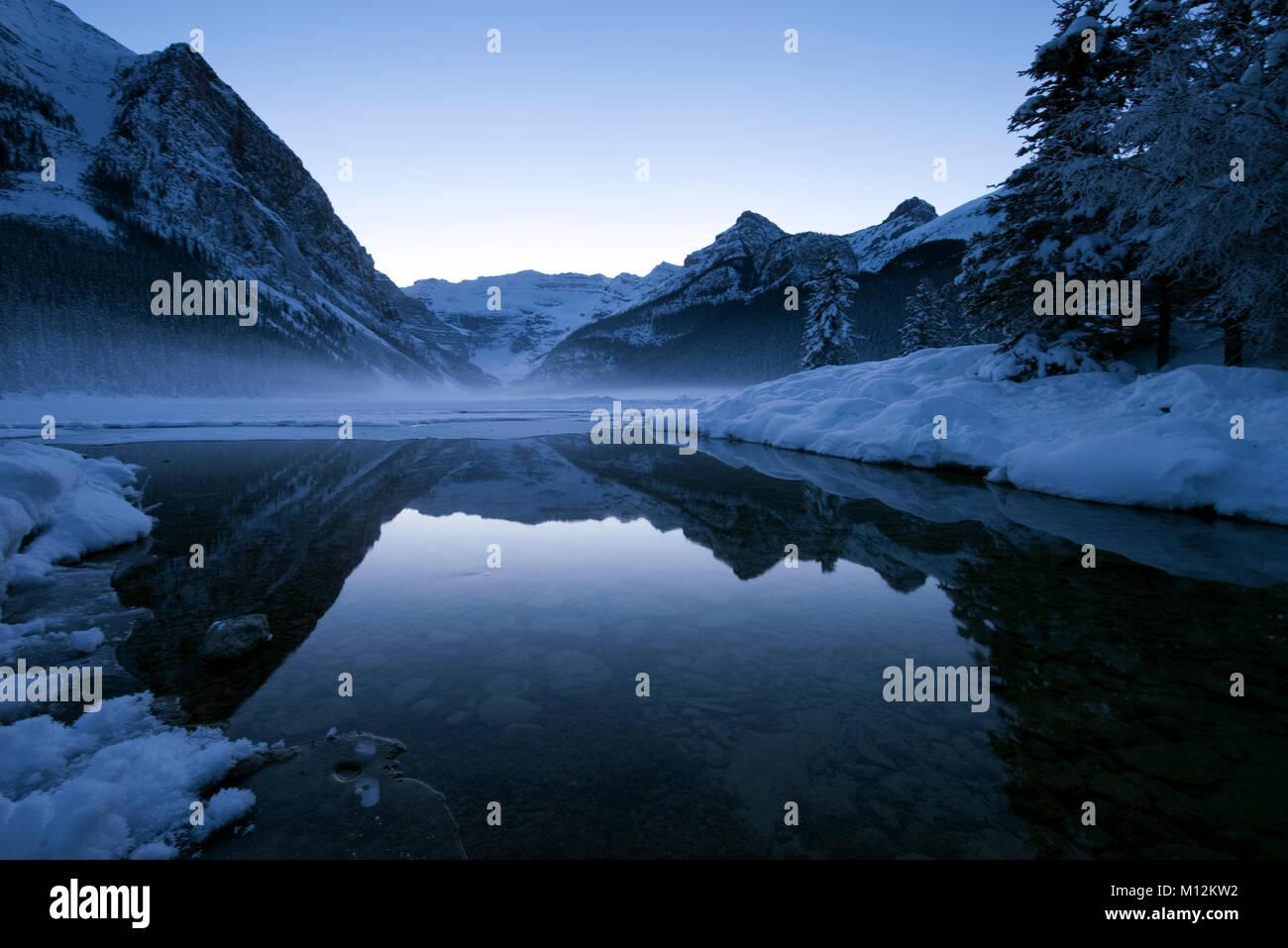 Lake Louise in winter - Stock Image