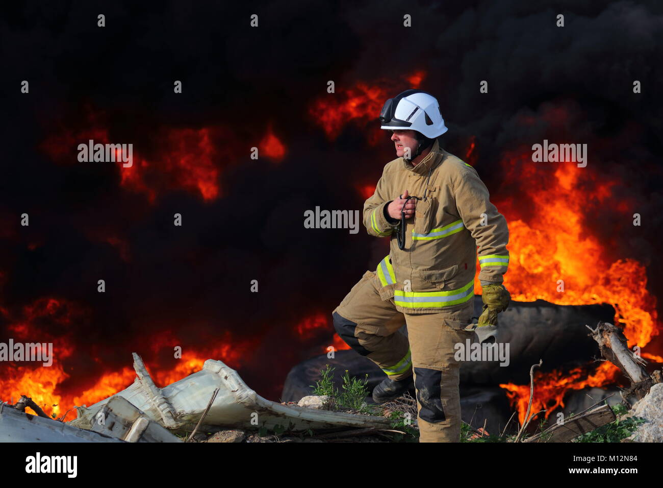Calling For Backup - Stock Image