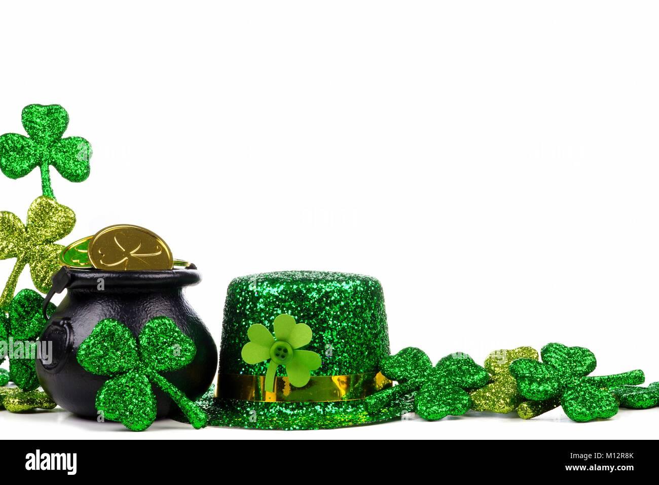 PATRICKS DAY GREEN GOLD SHAMROCK LUCKY IRISH IRELAND LEPRECHAUN HATS SAINT ST