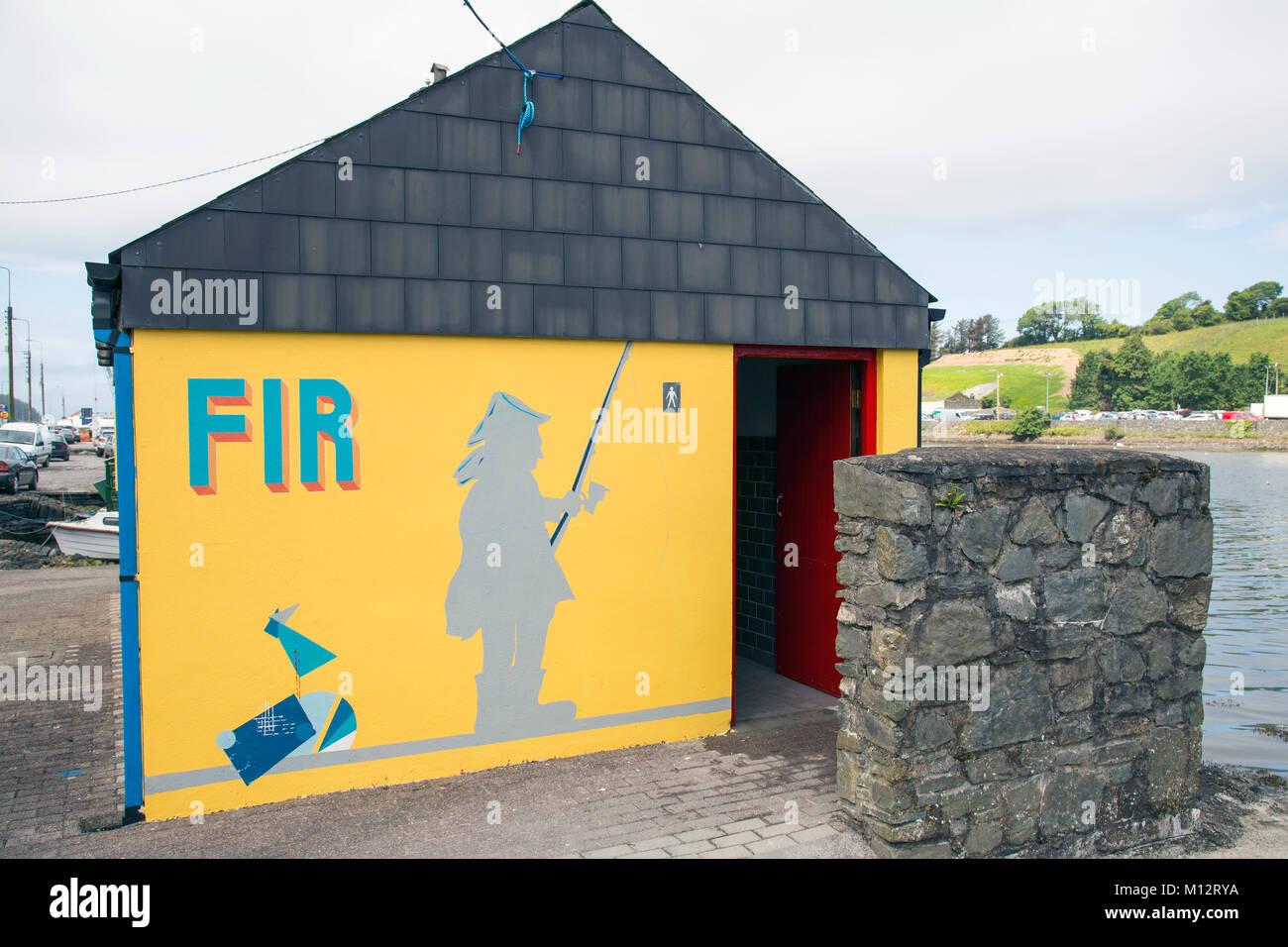 Brightly painted public toilets Bantry West Cork ireland - Stock Image