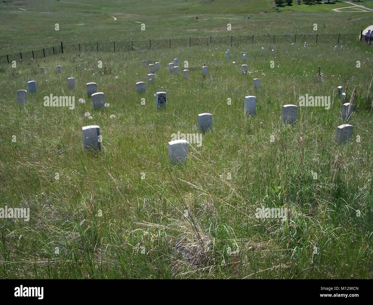 Little Big Horn battle site, Montana Stock Photo