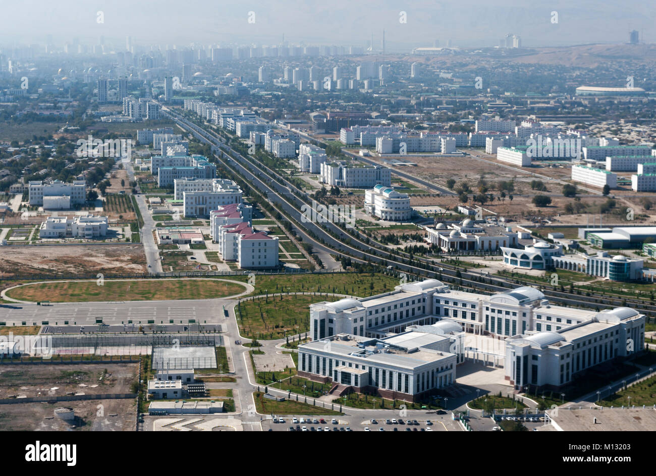 View of the Ashgabat the capital of the Turkmenistan - Stock Image