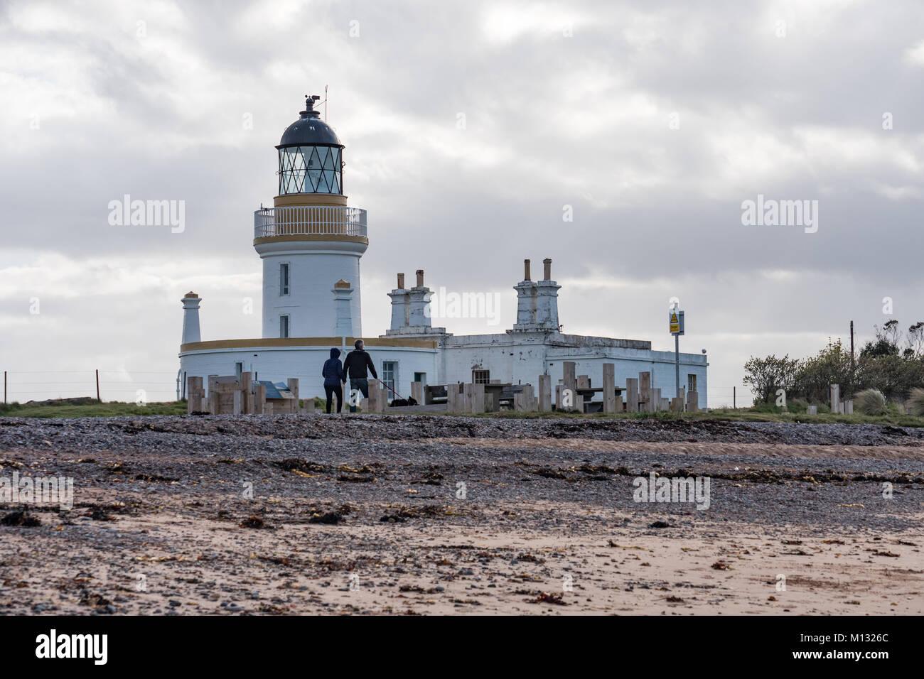 Chanonry Point lighthouse, Rosemarkie, Black Isle, Scotland. UK. - Stock Image