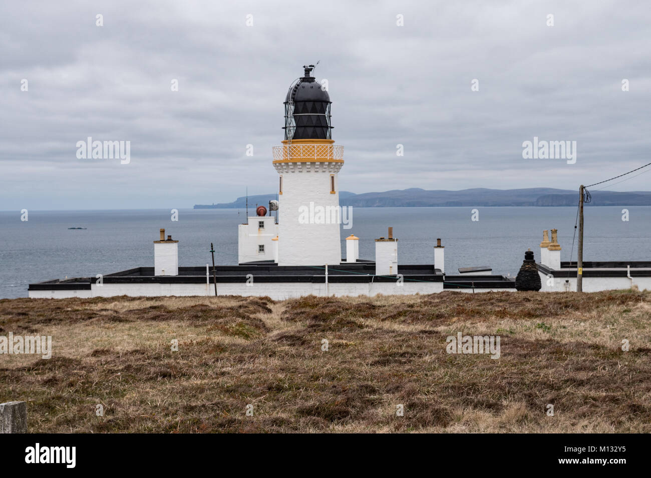 Dunnet Head lighthouse near Thurso, Caithness, Scotland. UK. - Stock Image