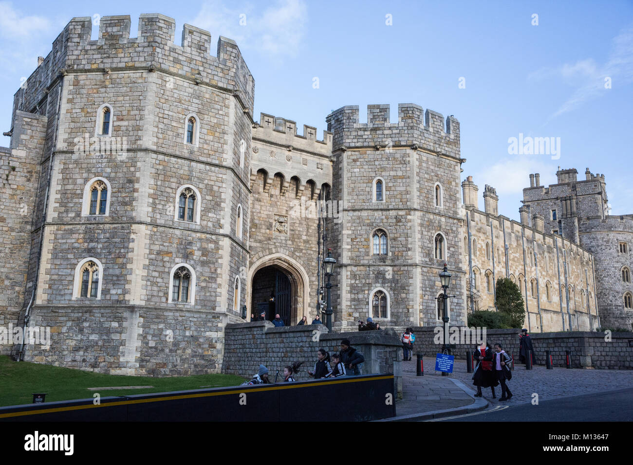 Windsor, UK. 25th January, 2018. The Henry VIII date at Windsor Castle. Stock Photo