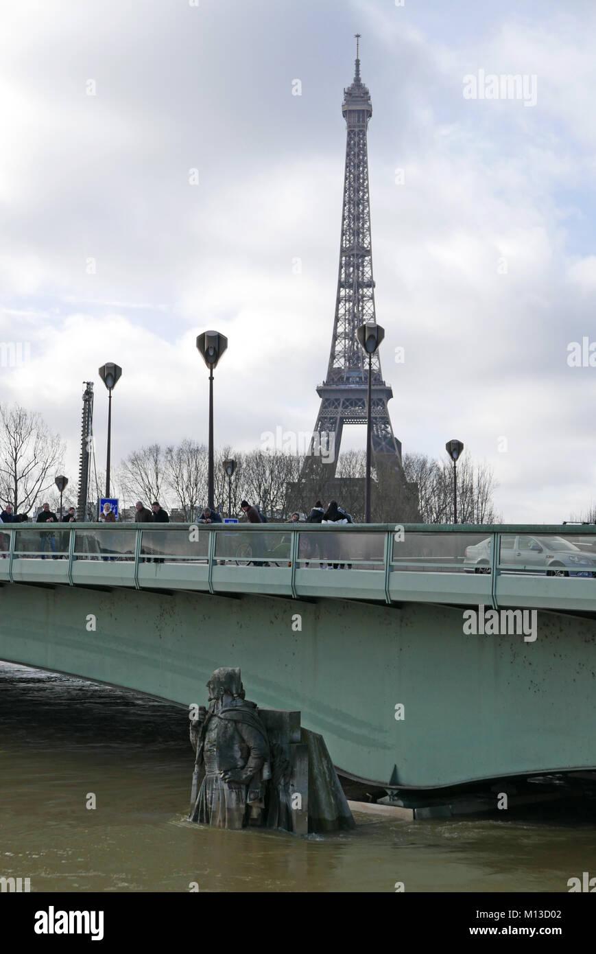 Paris France 25th January 2018 Zouave Du Pont De L Alma