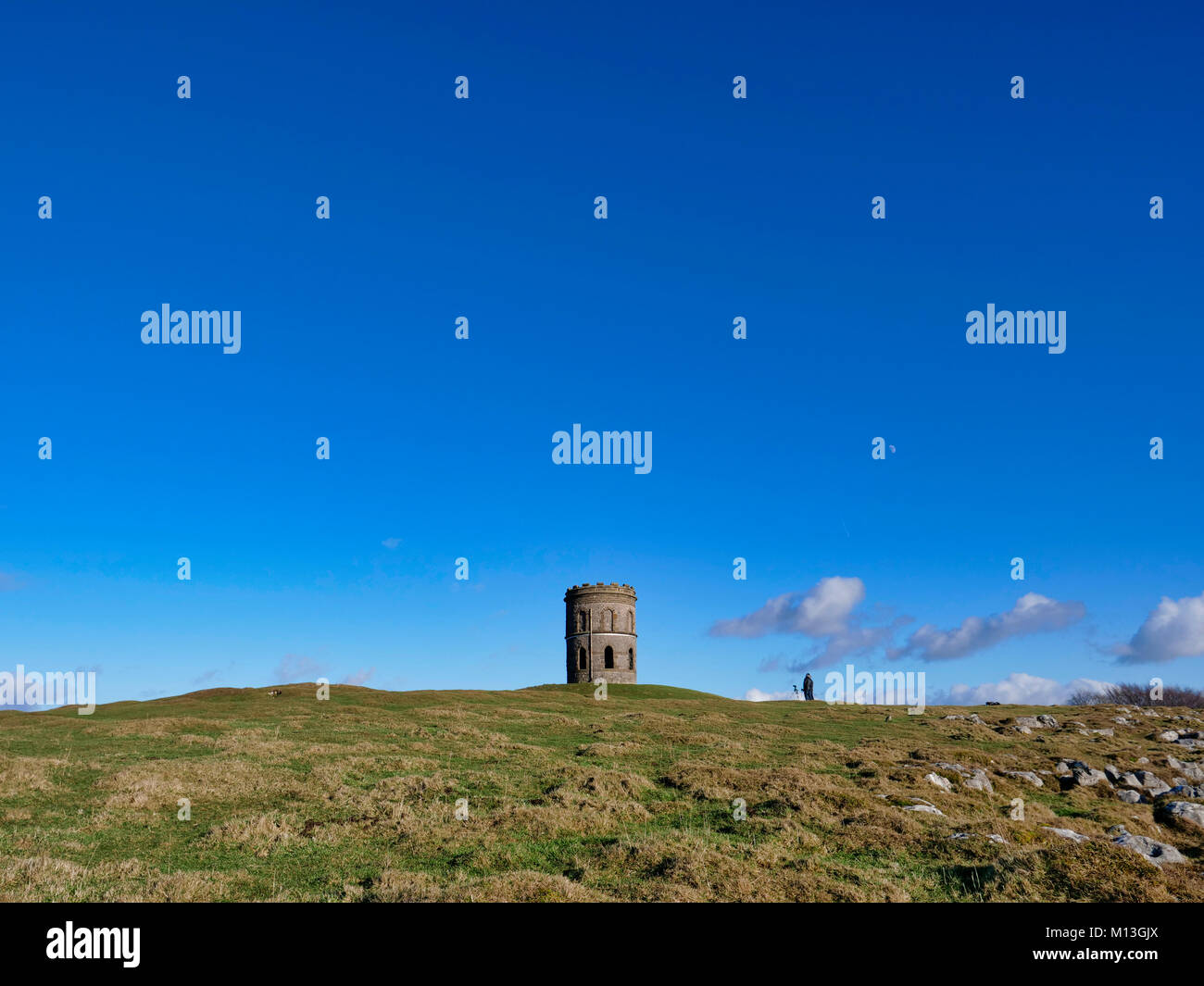 Solomon's Temple, Buxton. 26th Jan, 2018. UK Weather: photographers taking pictures of Solomon's Temple - Stock Image