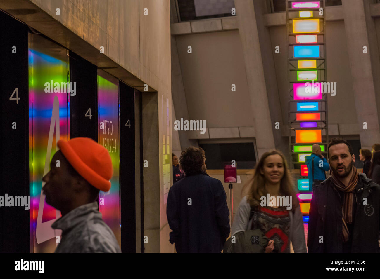 London, UK. 26th Jan, 2018. Spectrum of Brick Lane 2, 2007, by David Batchelor - The Tate Late supported by Uniqlo - Stock Image