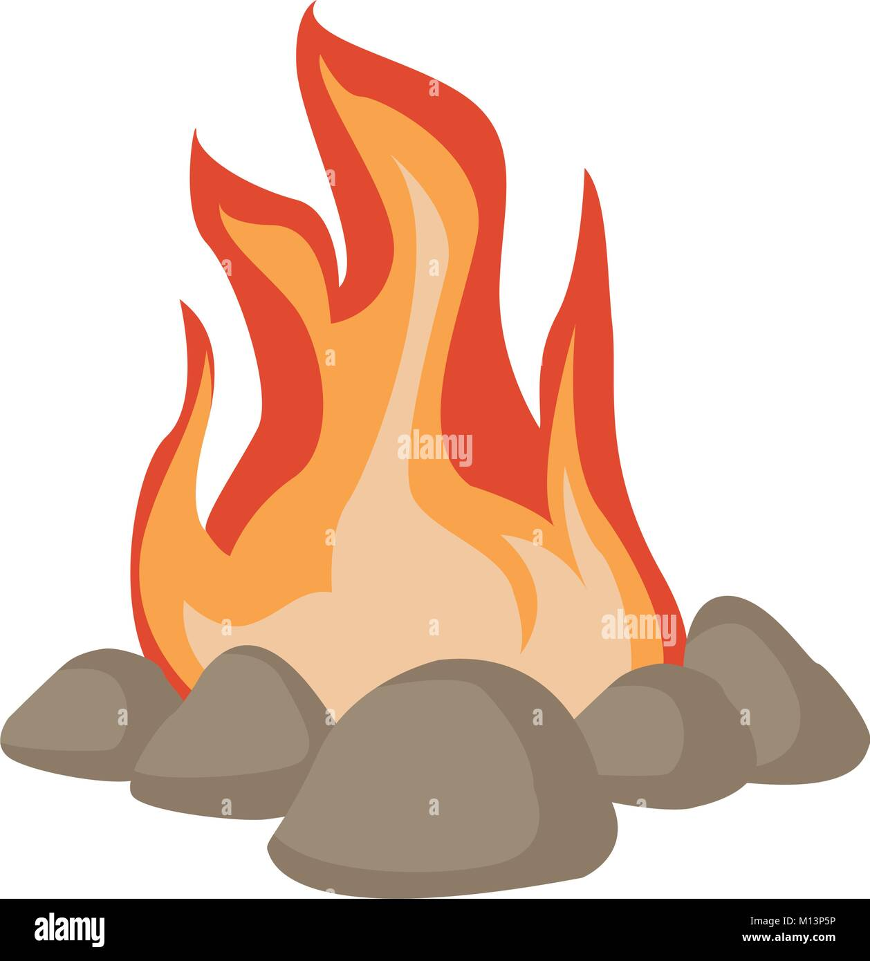 bonfire cartoon isolated stock vector art illustration vector rh alamy com cartoon bonfire night images bonfire cartoon images