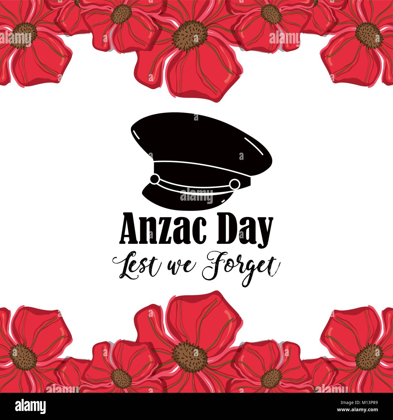Hat Soldier To Anzac Day War Vector Illustration Stock Vector Image Art Alamy
