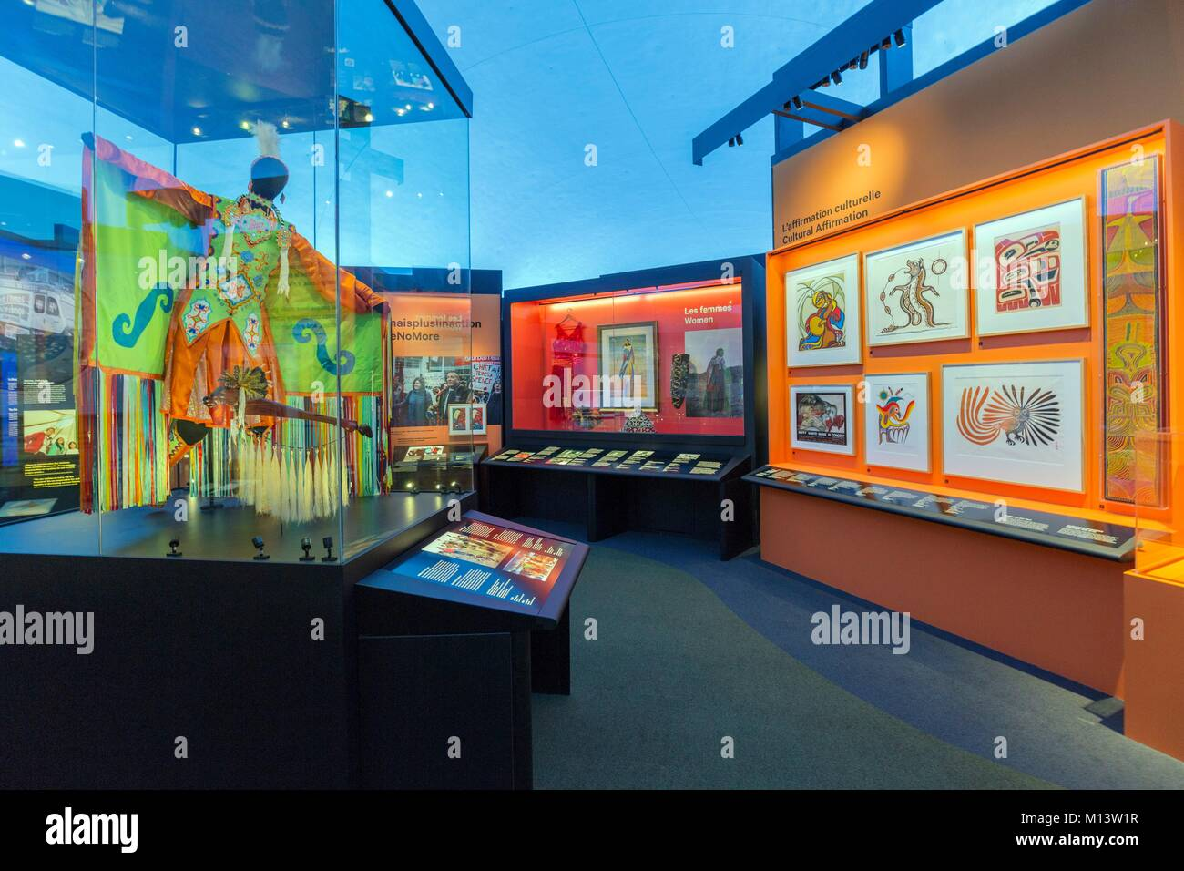 Canada, Province of Quebec, Outaouais, the City of Gatineau, the Canadian Museum of History, new galleries dedicated - Stock Image