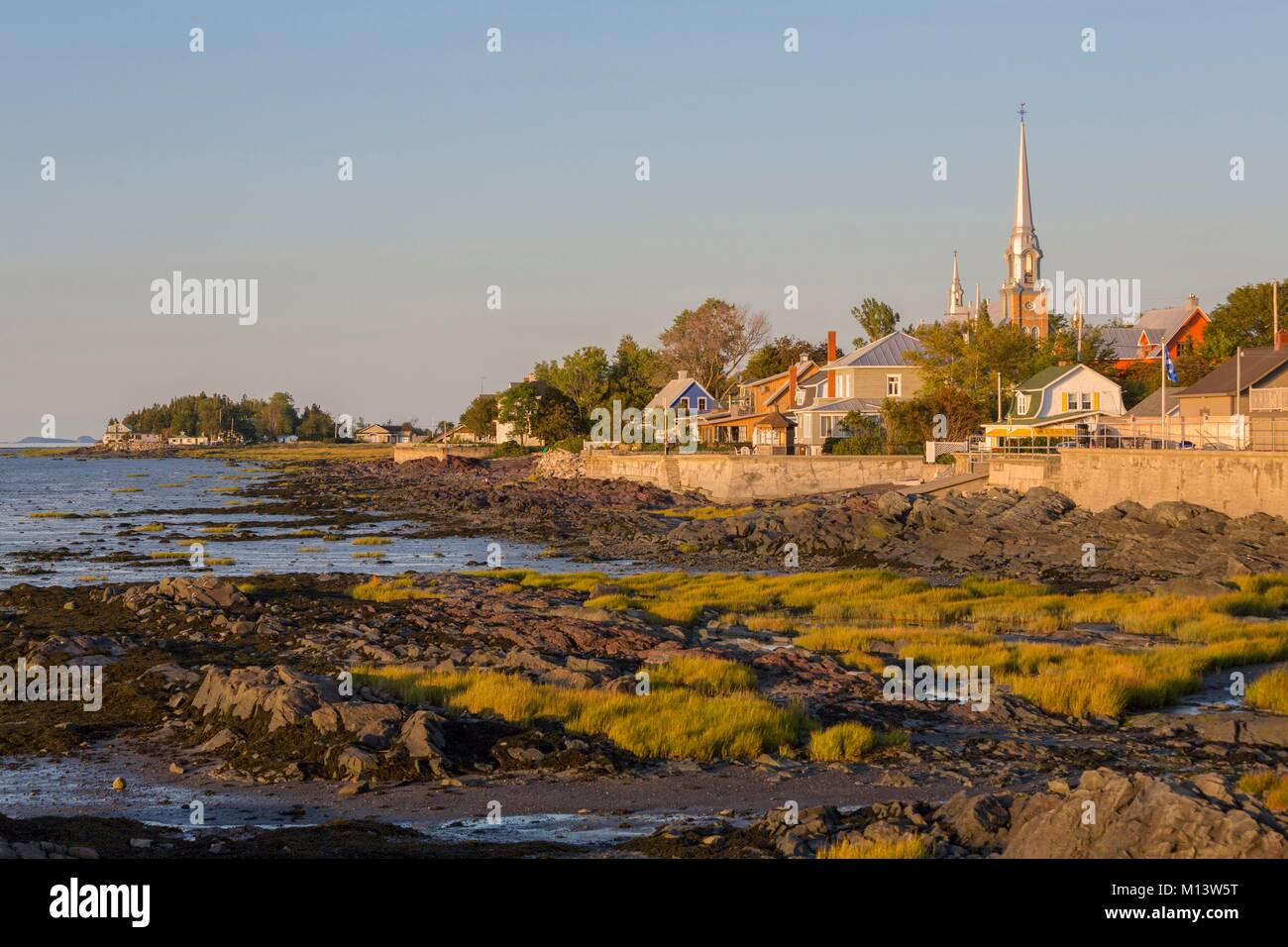 Canada, Province of Quebec, Bas-Saint-Laurent Region, Kamouraska Village on the St. Lawrence River - Stock Image