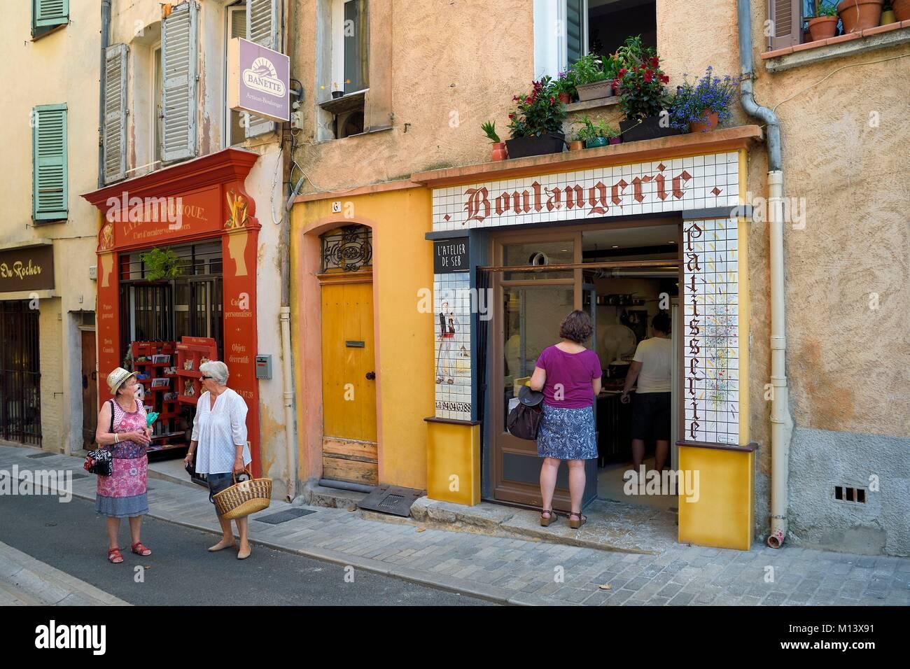 France, Var, Provence Verte, Cotignac, bakery Stock Photo