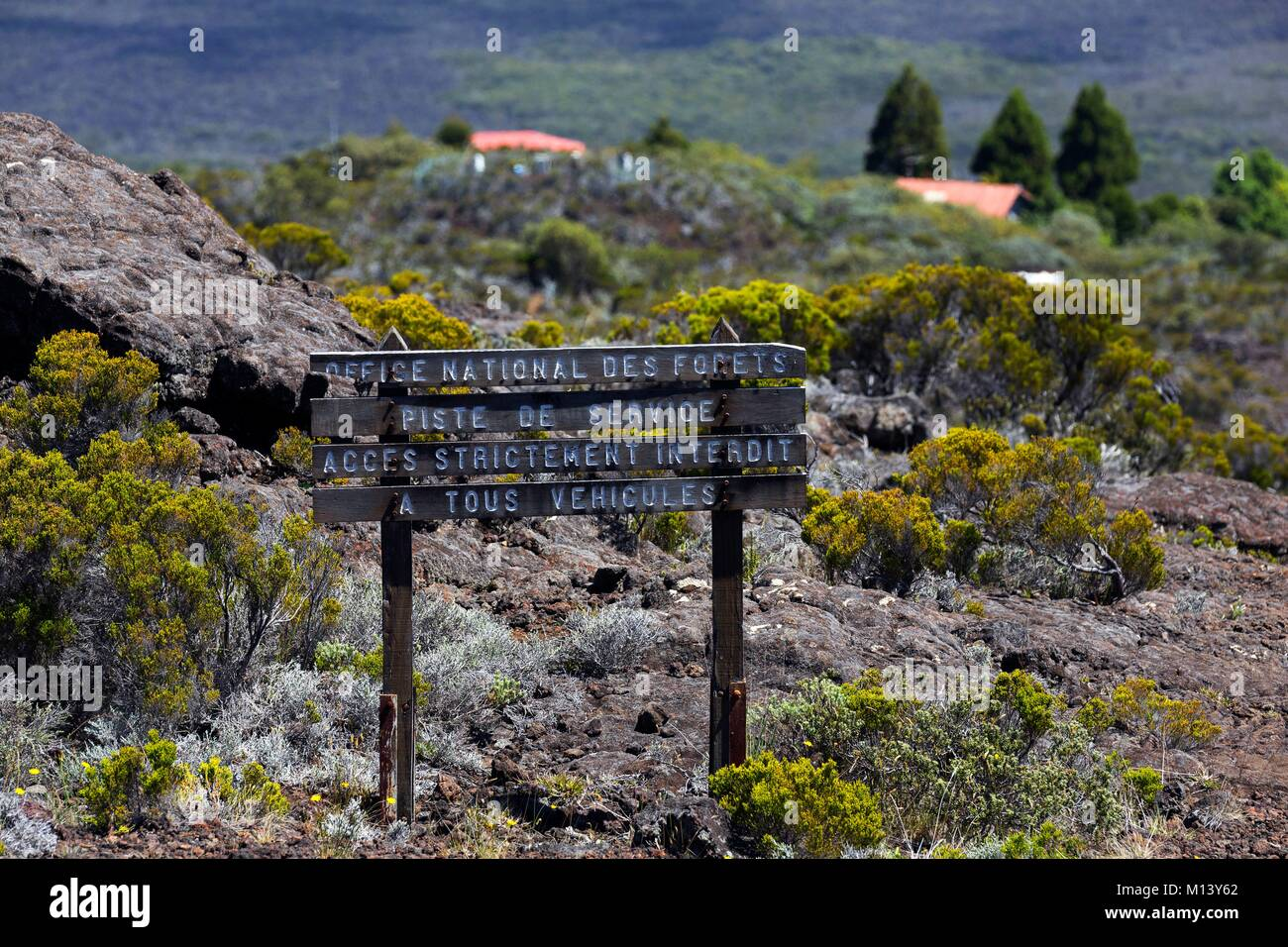 France, Reunion island, Reunion National Park listed as World Heritage by UNESCO, Piton de la Fournaise volcano - Stock Image