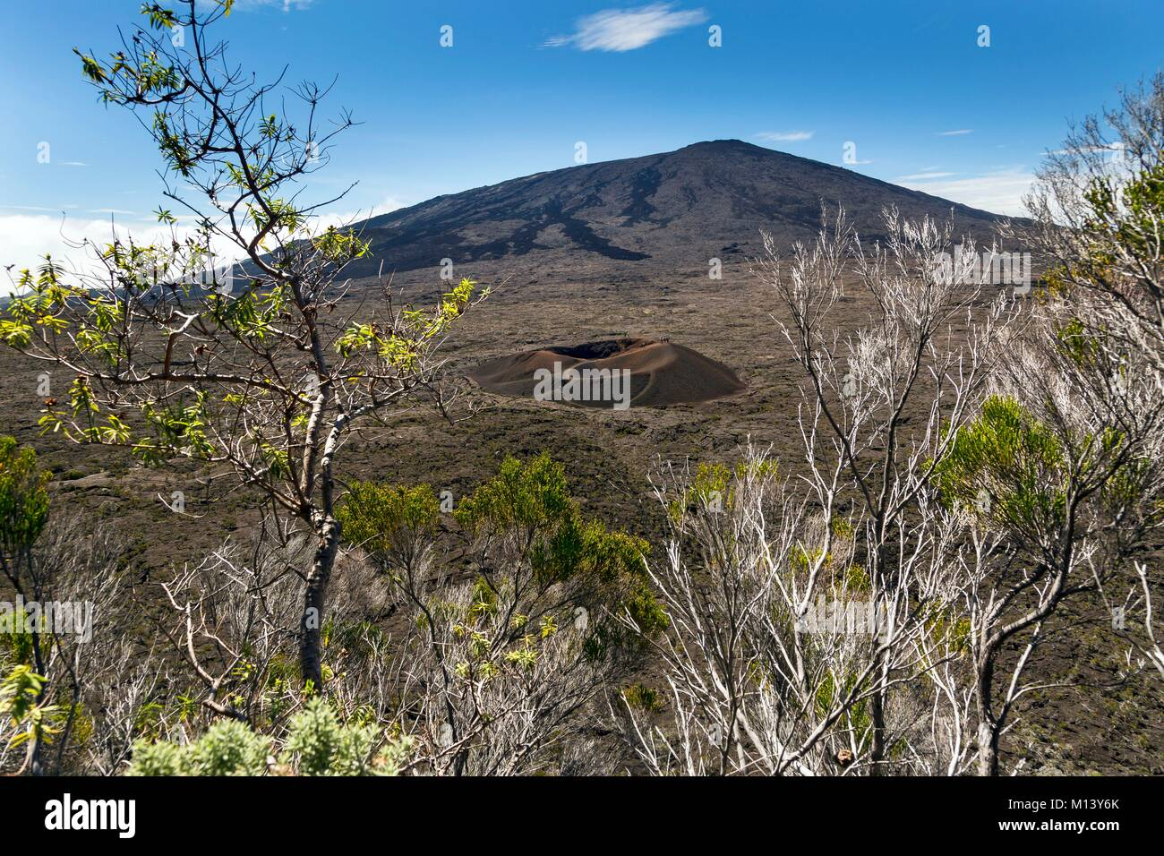 France, Reunion island, Reunion National Park listed as World Heritage by UNESCO, Piton de la Fournaise volcano, - Stock Image