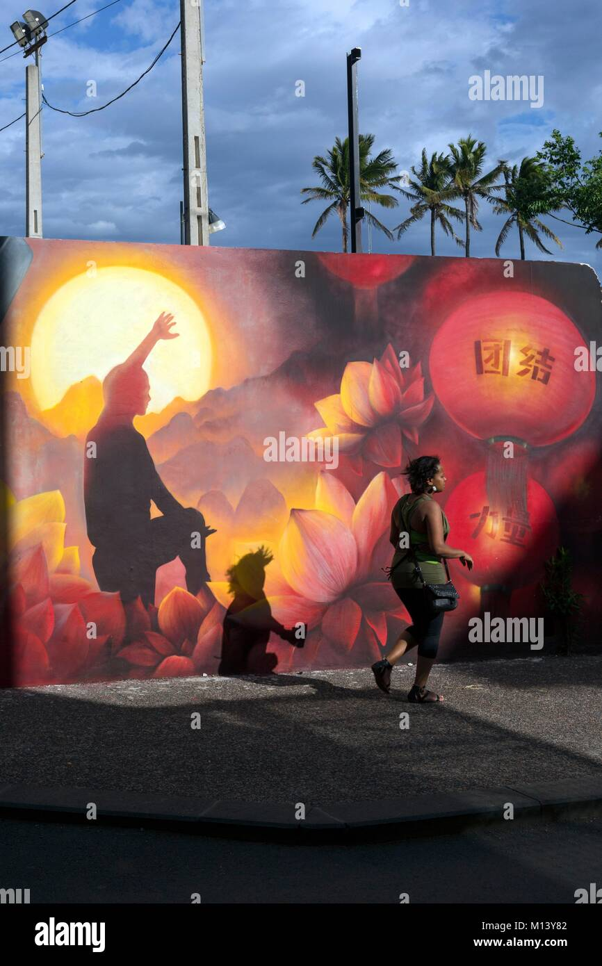 France, Reunion island, Saint Pierre, street art - Stock Image
