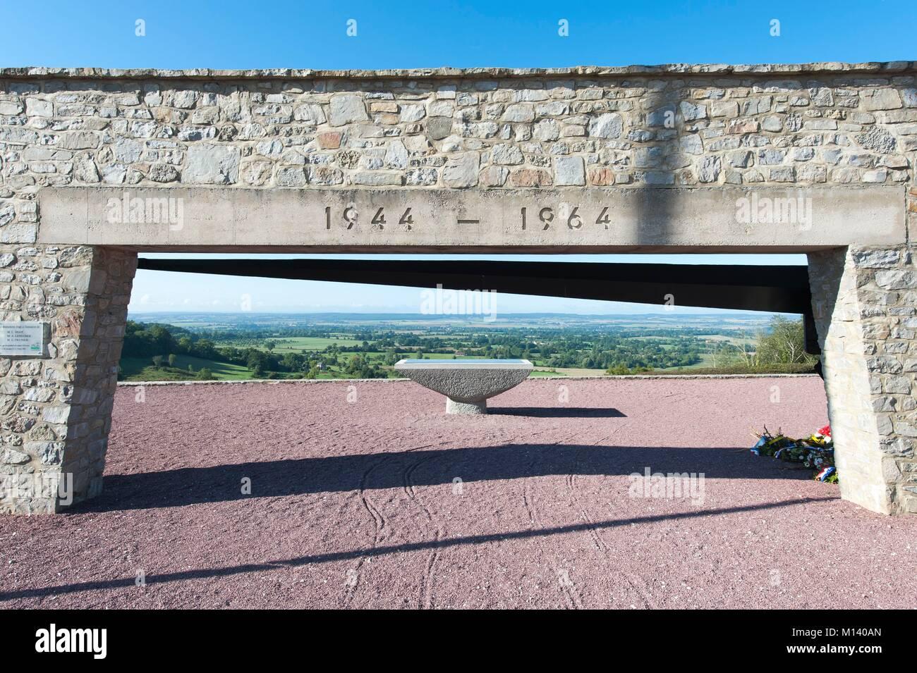 France, Orne, Montormel, Montormel Memorial - Stock Image