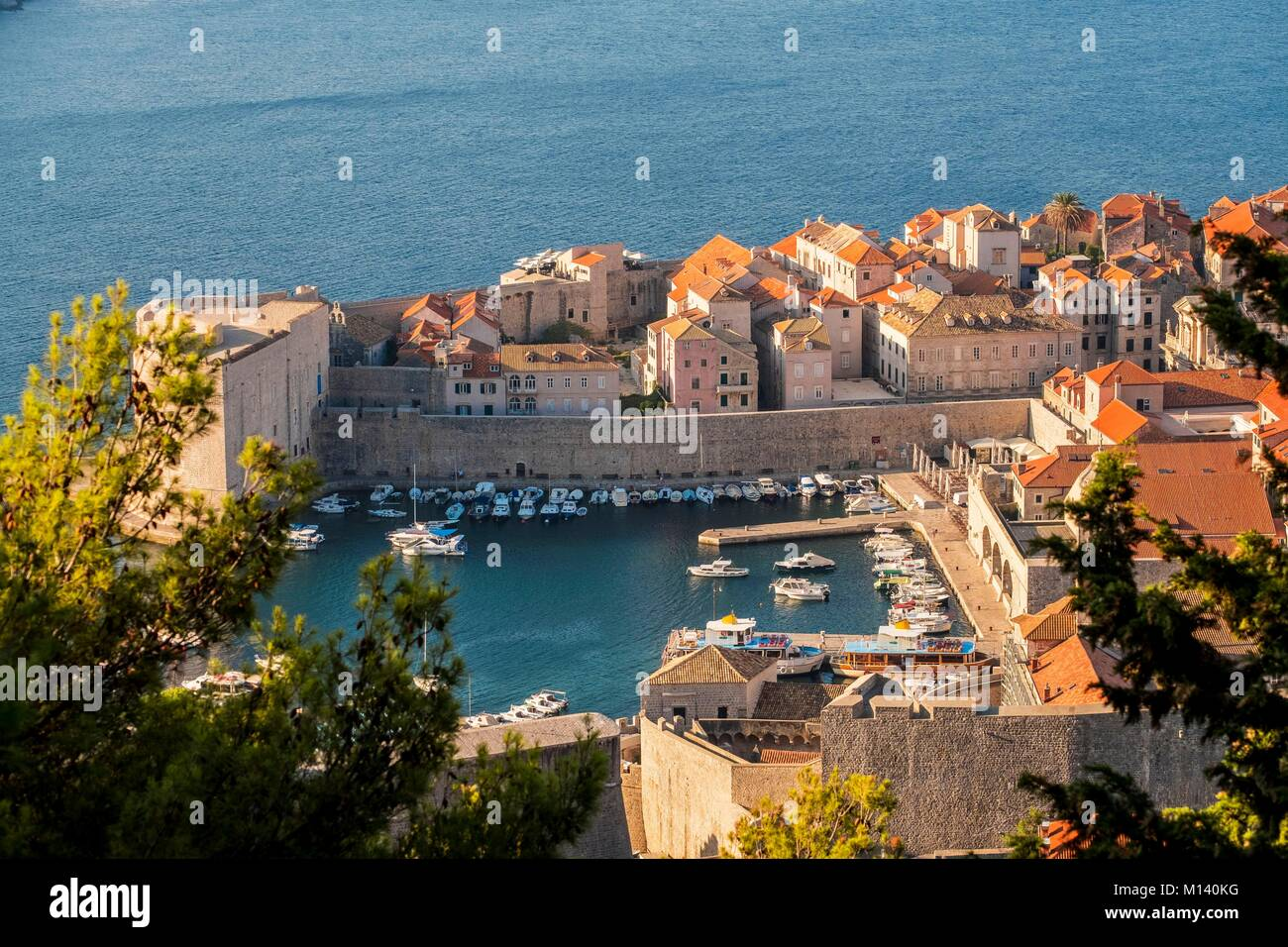 Croatia, Central Dalmatia, Dalmatian coast, Dubrovnik, Historic Centre listed as World Heritage by UNESCO, the Old - Stock Image
