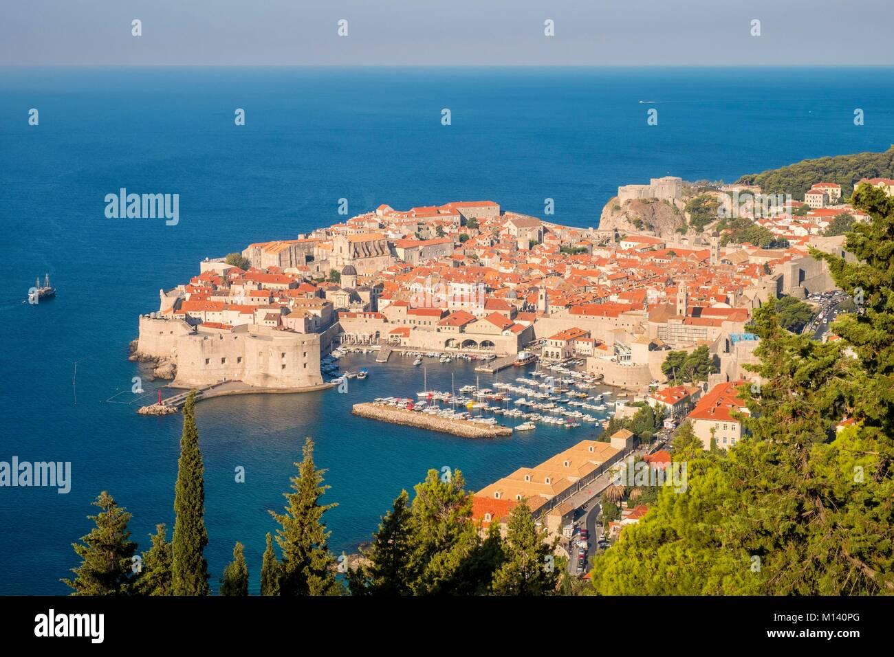 Croatia, Central Dalmatia, Dalmatian coast, Dubrovnik, Historic Centre listed as World Heritage by UNESCO - Stock Image