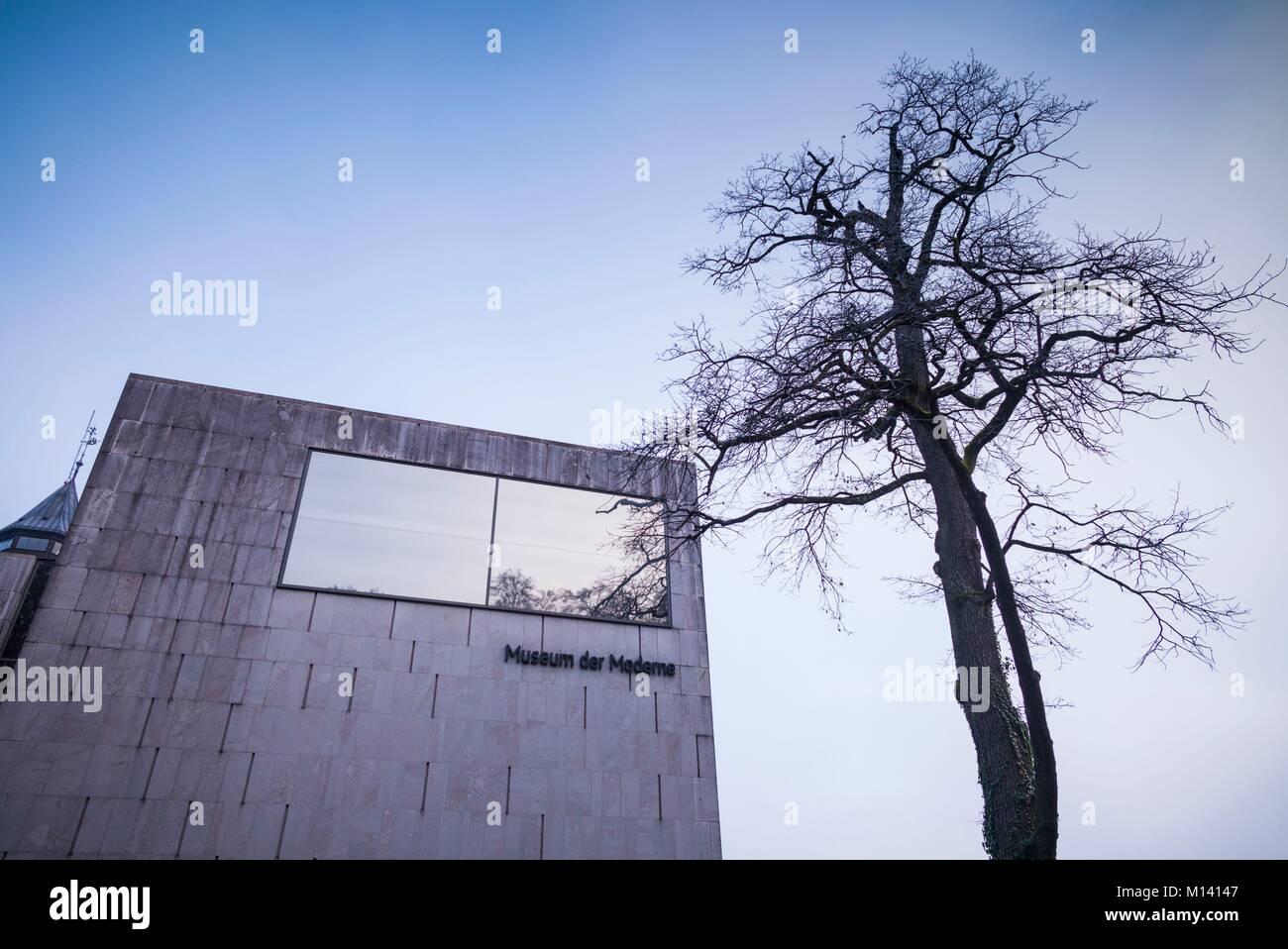 Austria, Salzburgerland, Salzburg, Museum der Moderne Monchsberg, modern art museum, exterior Stock Photo