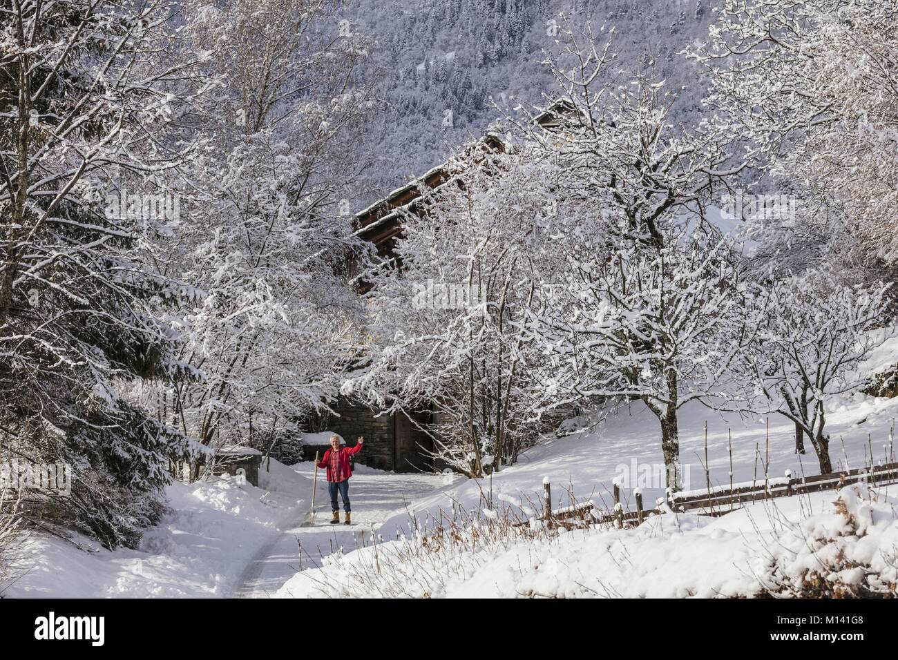 France, Savoie, Aigueblanche, Tarentaise valley, - Stock Image