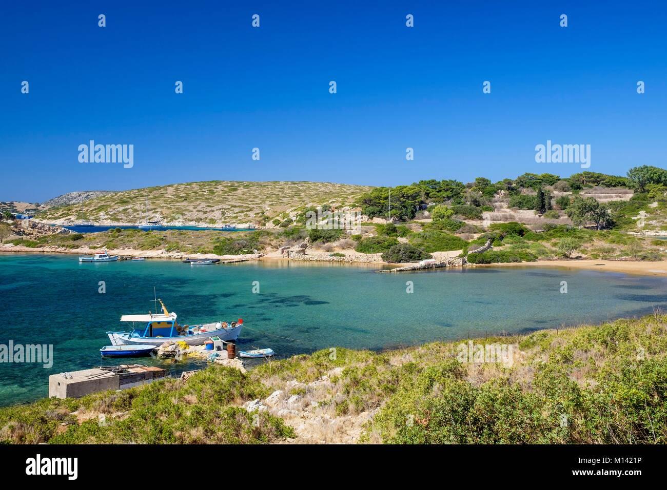 Geece, Dodecanese archipelago, Arki island, Glipapa cove - Stock Image